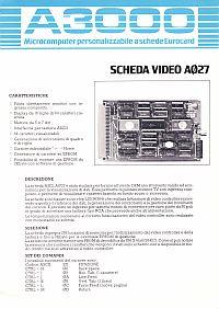 Depliant scheda video