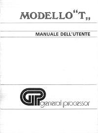 Manuale utente Modello T