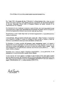 Carlo Passarella - Storia della memoria della P101
