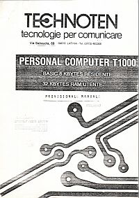 Technoten T1000 Provisional Manual