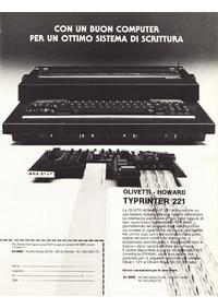 Pubblicità Olivetti Howard 221