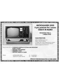 Pubblicità Microleader 2000