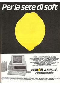 Pubblicità Lemon PC-EXT della Belton