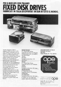 Pubblicità hard disk OPE