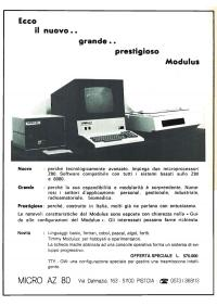 Pubblicità computer Modulus